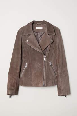 H&M Suede Biker Jacket - Beige