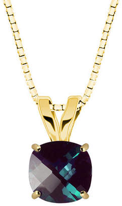 FINE JEWELRY Lab-Created Alexandrite 10K Yellow Gold Pendant Necklace
