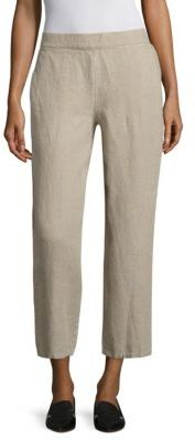Eileen Fisher Linen Crop Pants $178 thestylecure.com