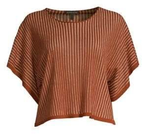 Eileen Fisher Wide Sleeve Organic Linen Blend Top