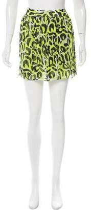 Gryphon Leopard Print Silk Skirt w/ Tags