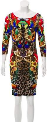 Philipp Plein Printed Long Sleeve Dress