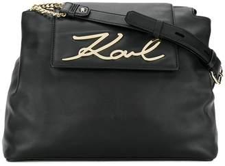 Karl Lagerfeld Signature Soft shoulder bag