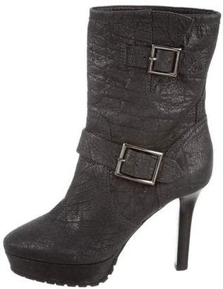 Jimmy Choo Metallic Leather Ankle Booties