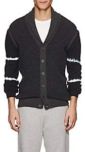 Tomas Maier MEN'S MIXED-KNIT CASHMERE CARDIGAN - GRAY SIZE XL 00505059349907