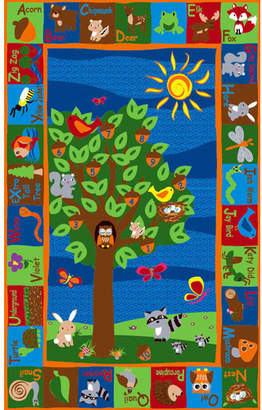 Kid Carpet Forest Animal Alphabet Multi Colored Area Rug Rug $159.99 thestylecure.com