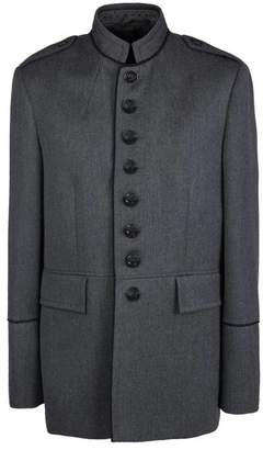 Pretty Green Button Up Single Breasted Jacket