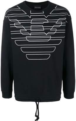 Emporio Armani printed logo sweatshirt