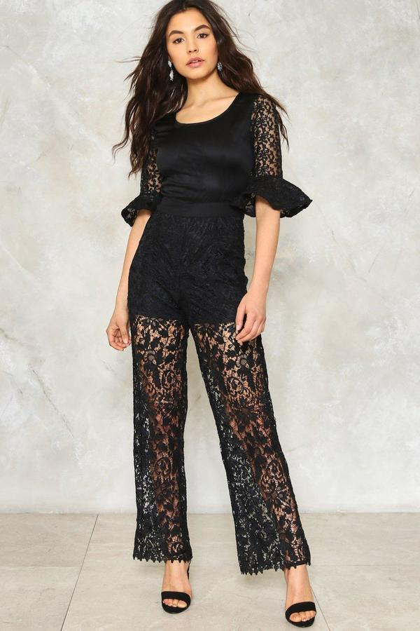 nastygal Wicked World Lace Jumpsuit