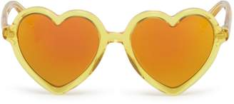 Sons+Daughters Eyewear 'Lola' heart frame mirror acetate kids sunglasses