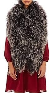 Barneys New York Women's Mongolian Fur Scarf - Black