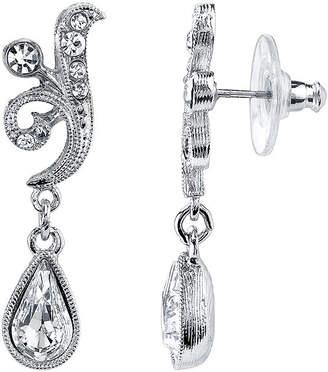JCPenney 1928 Jewelry Crystal Teardrop Earrings