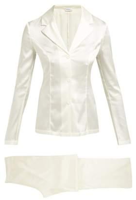 La Perla Silk Satin Pyjama Set - Womens - White