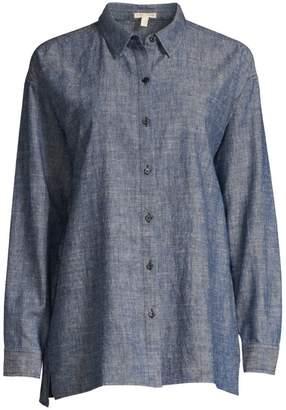 Eileen Fisher Chambray Button-Down Shirt