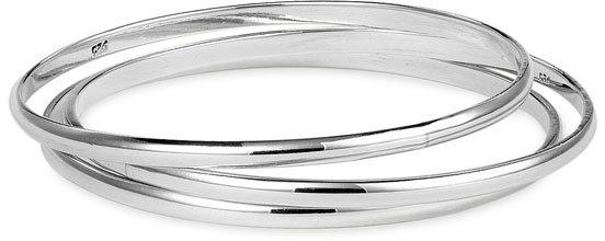 Argento Vivo Polished Bangle Bracelet