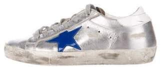 Golden Goose Boys' Metallic Distressed Sneakers