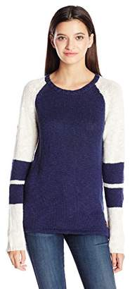 Element Juniors Varsity Crew Neck Color Block Sweater $25.77 thestylecure.com