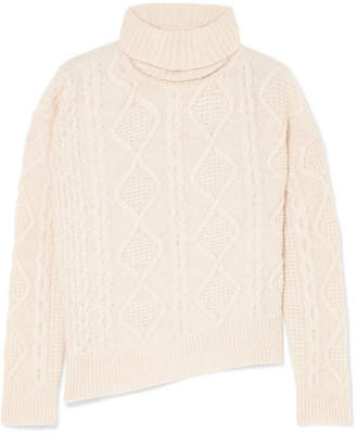 Vanessa Bruno Jaira Cable-knit Wool Turtleneck Sweater - Cream