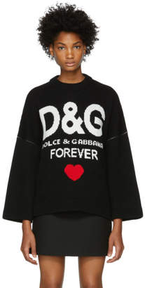 Dolce & Gabbana Black Cashmere Forever Sweater