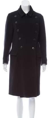 Dries Van Noten Double-Breasted Wool Coat