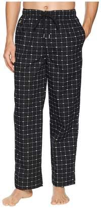 Lacoste Baseline Woven Lounge Signature Print Sleep Pants Men's Pajama