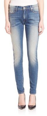 True Religion Jennie Curvy Faded Skinny Jeans $199 thestylecure.com