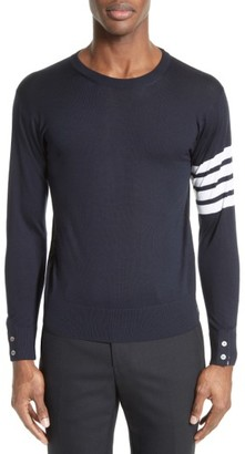 Men's Thom Browne Merino Wool Pullover $875 thestylecure.com