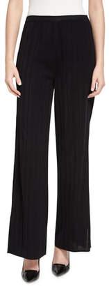 Misook Vertical Lines Wide-Leg Pants