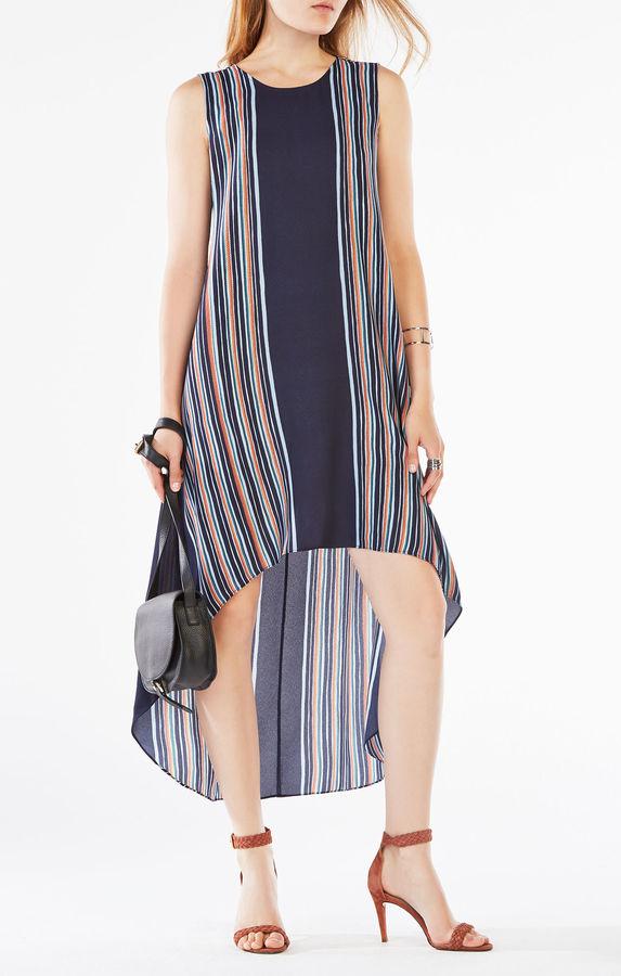 BCBGMAXAZRIAMickayla Striped High-Low Dress