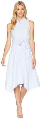 Tahari ASL Seersucker Shirtdress Women's Dress