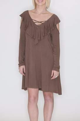 Cherish Cold Shoulder Dress