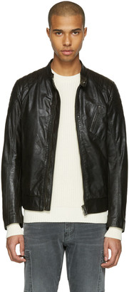 Belstaff Black Leather Sandway Jacket $1,595 thestylecure.com