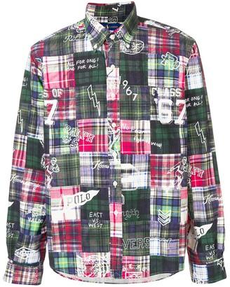 Ralph Lauren plaid patchwork shirt