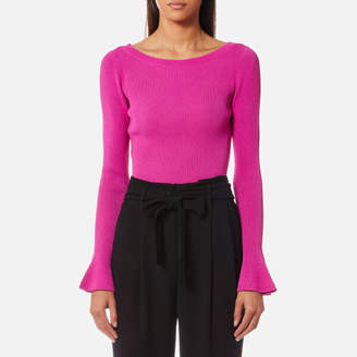 MICHAEL Michael Kors Women's Boatneck Bell Sleeve Sweatshirt
