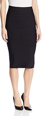 BCBGMAXAZRIA Women's Leger Mid-Length Knit Pencil Skirt