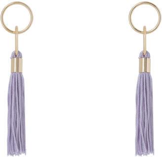 Basque Delicate Tassel Earring Lilac