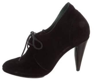 Balenciaga Pointed-Toe Suede Booties Black Pointed-Toe Suede Booties