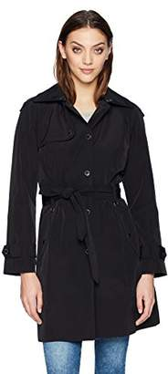 London Fog Women's Snap Front Trench Coat