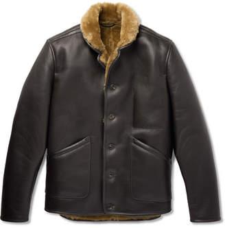 YMC Brainticket Shearling-Lined Leather Jacket