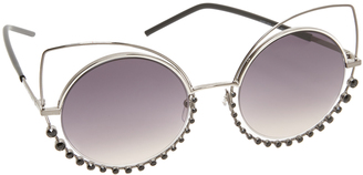 Marc Jacobs Double Trouble Crystal Wire Sunglasses $295 thestylecure.com