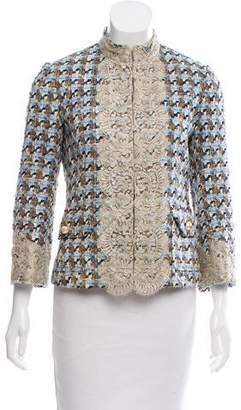 Dolce & Gabbana Lace Trimmed Tweed Jacket