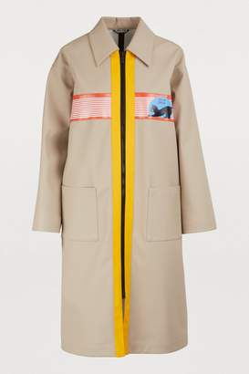 Miu Miu Miu patch trench coat