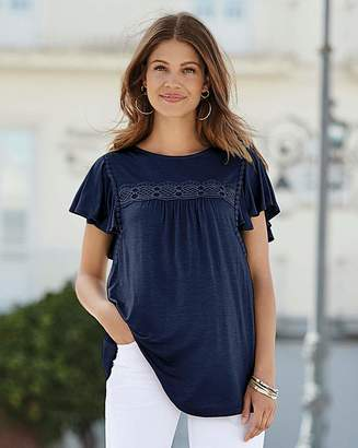 Together Frill Sleeve Jersey Top