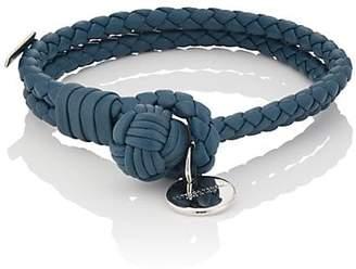 732a145e716ba Bottega Veneta Men s Intrecciato Leather Double-Band Bracelet - Blue
