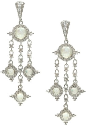 Judith Ripka Sterling & Moonstone Drop Earrings