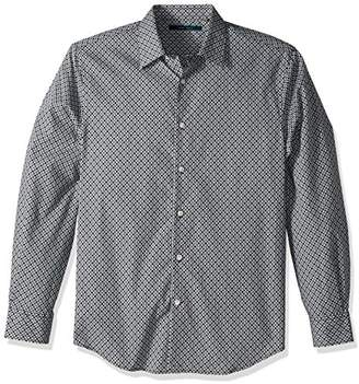 Perry Ellis Men's Long Sleeve Geometric Print Shirt