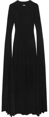 Norma Kamali - Open-back Jersey Maxi Dress - Black $395 thestylecure.com