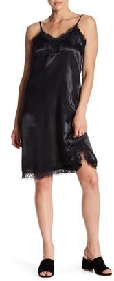 Mimi Chica Lace Trim Satin Slip Dress $46 thestylecure.com