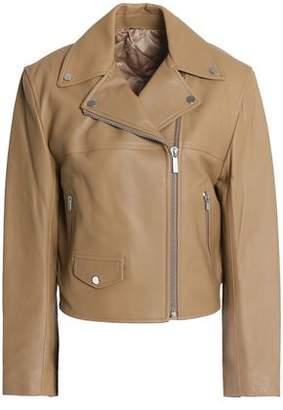 Helmut Lang Tie-back Leather Biker Jacket