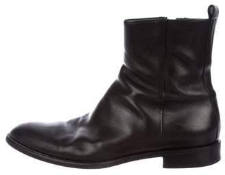 Giorgio Armani Leather Ankle Boots
